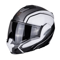 Casco Modulare Scorpion Exo Tech Time Off Bianco