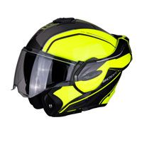Casco Modulare Scorpion Exo Tech Time Off Giallo