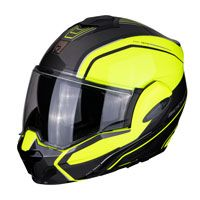Modular Helmet Scorpion Exo Tech Time Off  Fluo Yellow