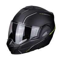 Modular Helmet Scorpion Exo Tech Time Off Matt Black Yellow