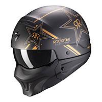 Scorpion Exo Combat Evo Rockstar Helmet Gold