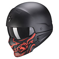 Scorpion Exo Combat Evo Samurai Helmet Black Red