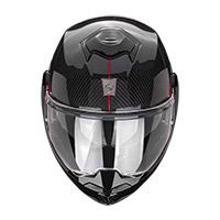 Casco Modulare Scorpion Exo Tech Carbon Top Rosso
