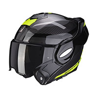 Casco Modular Scorpion Exo Tech Trap negro amarillo