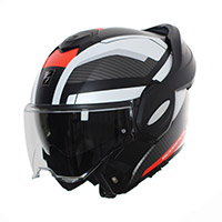 Casco Modular Scorpion Exo Tech Trap negro rojo