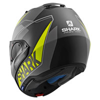 Shark Evo One 2 Krono Nero Opaco Giallo Fluo