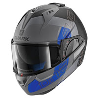 Shark Evo-one 2 Slasher Blu Grigio Opaco