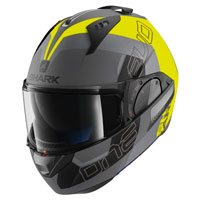 Shark Evo-one 2 Slasher Giallo Grigio Opaco