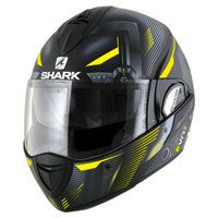 Shark Evoline Serie 3 Shazer Matt Black Silver Yellow