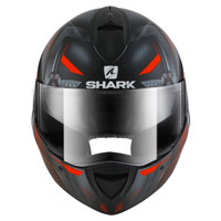 Shark Evoline Serie 3 Shazer Matt Black Silver Red