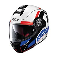 X-lite X-1004 Charismatic N-com Modular Helmet White Red Blue