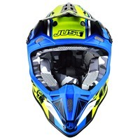 Just-1 J12 Carbonio Dominator Giallo Blu Neon
