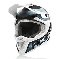 Acerbis Linear Helmet White Light Blue