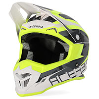Casco Acerbis Profile 4 amarillo blanco