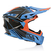 Acerbis Steel Carbon Helmet Orange Blue