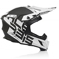 Casco Acerbis Steel Carbon blanco negro