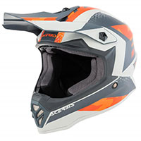 Acerbis Steel Junior Helmet Orange Grey Kinder