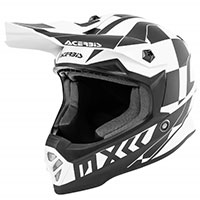 Acerbis Steel Junior Helmet White Black Kinder