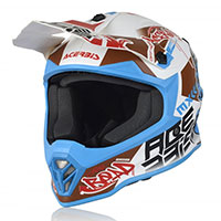 Casco Acerbis Steel Junior blanco azul