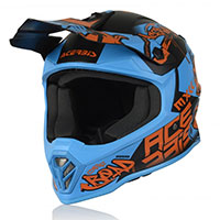 Casco Acerbis Steel Junior azul rojo