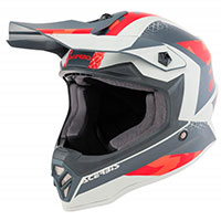 Acerbis Steel Junior Helmet Red Grey Kid