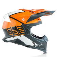 Casco Cross Acerbis Impact X Racer Vtr Arancio