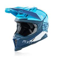 Casque Moto Cross Acerbis Impact X Racer Vtr Bleu