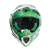 AGV AX-8 EVO AGV E2205 MULTI-SCRATCH WHITE/GREEN