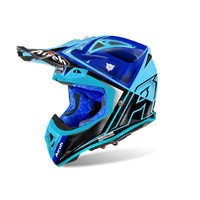 Airoh Aviator 2.2 Check Helmet Blue Gloss