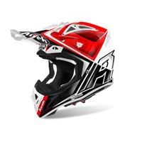 Airoh Aviator 2.2 Check Helmet Red Gloss