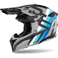 Casco Airoh Aviator 3 Rainbow Antracite Opaco