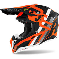 Airoh Aviator 3 Rainbow Helmet Orange Matt