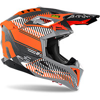 Casco Airoh Aviator 3 Wave Arancio Chrome