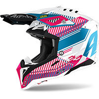 Casco Airoh Aviator 3 Wave Rosa Chrome