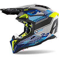 Casco Airoh Aviator 3 Wave Argento Chrome