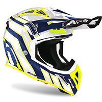 Casco Airoh Aviator Ace Art Blu Lucido