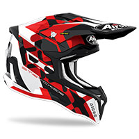 Casque Airoh Strycker Xxx Rouge Brillant
