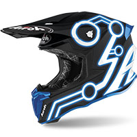 Casco Airoh Twist 2 Neon Blu Opaco