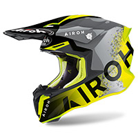Airoh Twist 2 Bit Helmet Yellow Gloss