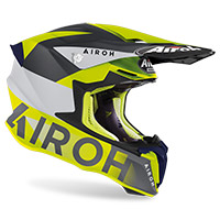 Airoh Twist 2 Lift Helmet Yellow Blue Matt
