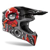 Airoh Wraap Alien Helmet Red Matt