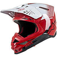 Casco Alpinestars Supertech S-M10 Dyno rojo