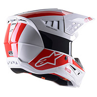 Casco Alpinestars Sm5 Bond Bianco Rosso