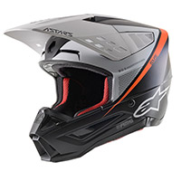 Alpinestars Sm5 Rayon Helmet White Orange Fluo