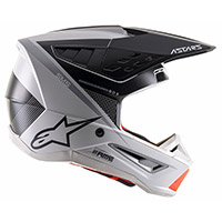 Alpinestars Sm5 Rayon Helmet Grey Black Silver