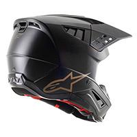 Casco Alpinestars Sm5 Solid Nero Marrone Opaco