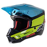 Casco Alpinestars Sm5 Speed Giallo Azzurro