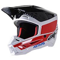 Casco Alpinestars Sm5 Speed Bianco Rosso