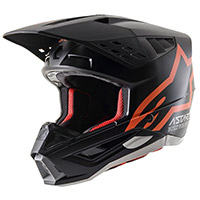 Alpinestars Sm5 Compass Helmet Black Orange Fluo