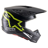 Alpinestars Sm5 Compass Helmet Black Yellow Fluo